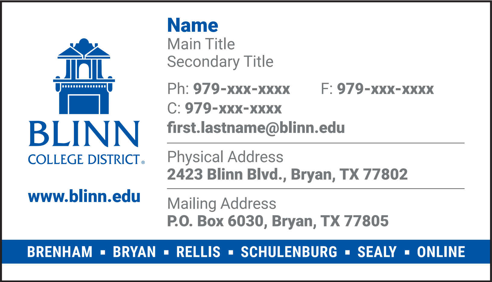 Bryan Business Cards